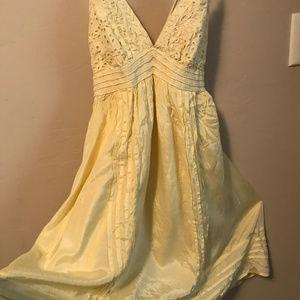 Charlotte Russe Soft Yellow Summer Dress